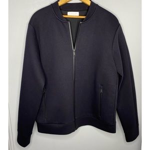 EVERLANE Solid Black Bomber Jacket